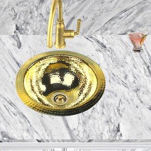 Brightwork Home Round Hammered 13 L X W Undermount Bar Sink