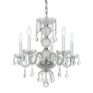 Order Catchings 5-Light Crystal Chandelier By House of Hampton