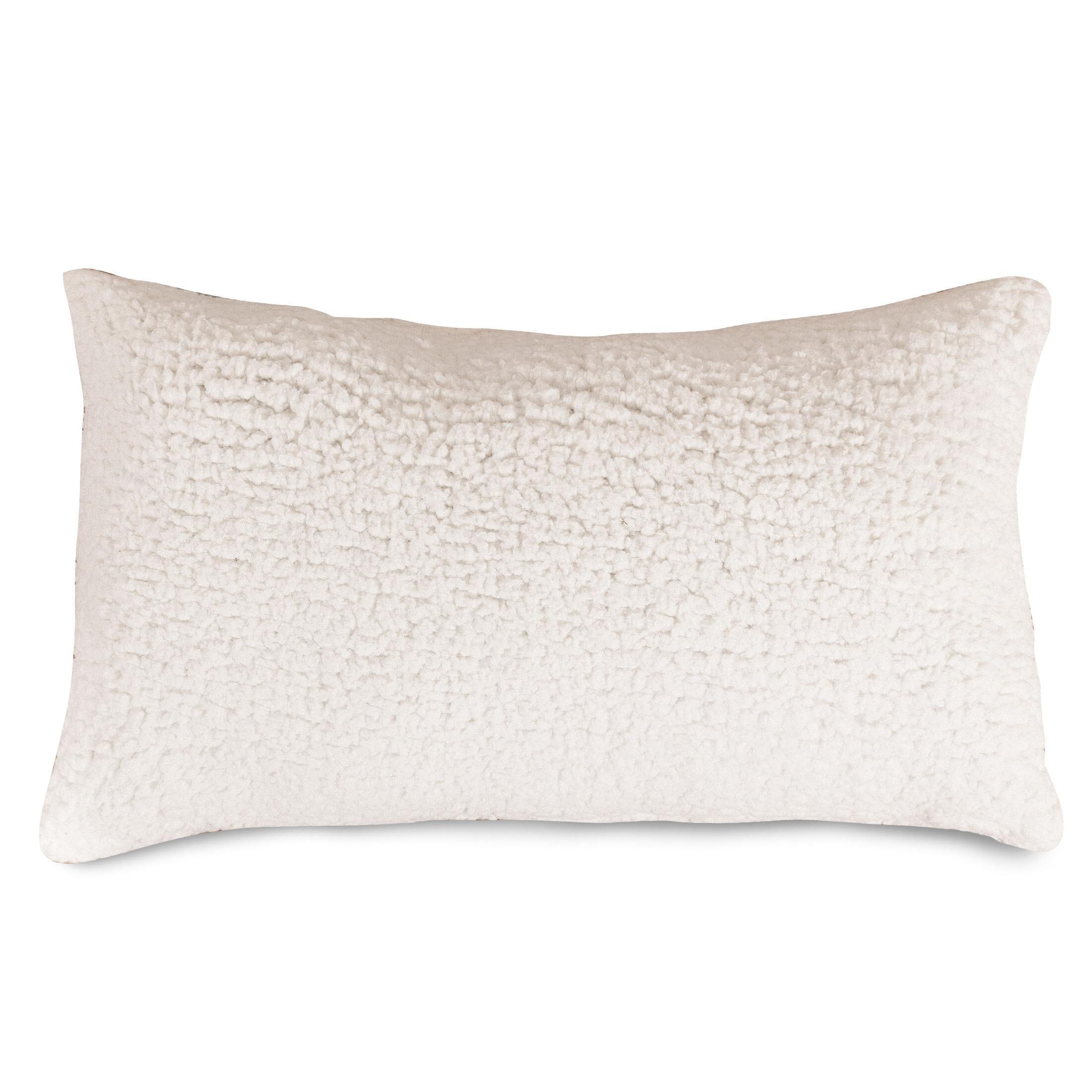 White Noise Sherpa Rectangular Faux Leather Throw Pillow Reviews Wayfair