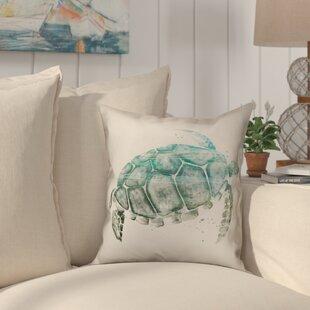 Heldt Watercolor Sea Turtle Throw Pillow