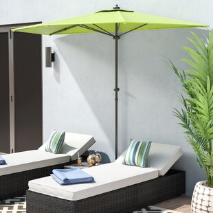 Dade City North 9' Half Market Umbrella by Beachcrest Home