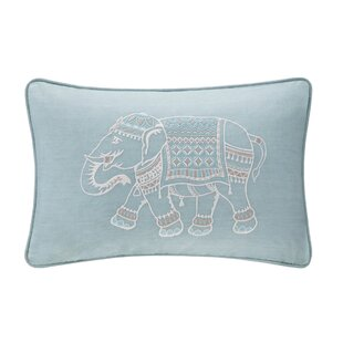 Dalila Embroidered 100% Cotton Lumbar Pillow