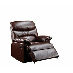 Goudeau Contemporary Cracked Manual Recliner