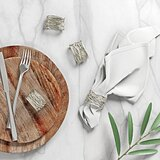 Square Wire Napkin Rings (Set of 4)
