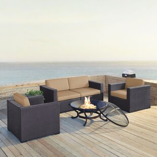 Dinah 5 Piece Sectional Set With Cushions by Highland Dunes Great Reviews