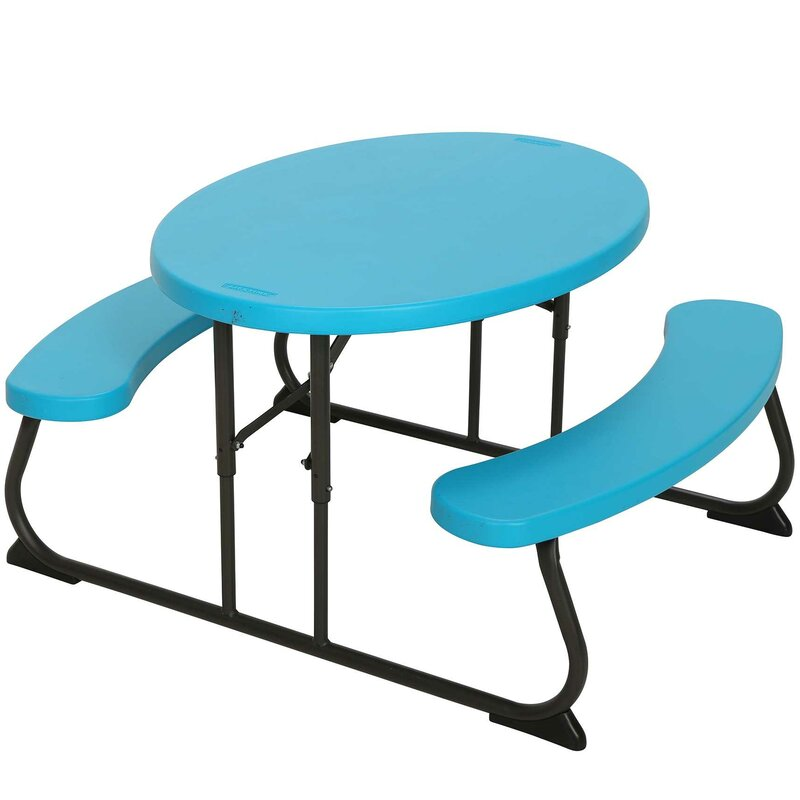 Lifetime Piece Oval Picnic Table And Bench Set Reviews Wayfair - Teal picnic table