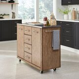 Kutsi Kitchen Cart with Stainless Steel Top by Gracie Oaks