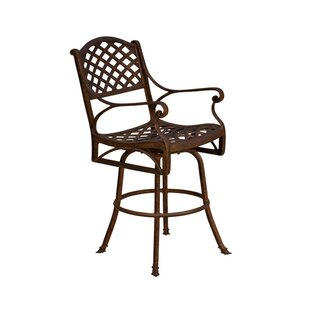 La Jolla Patio Bar Stool with Cushion (Set of 2) by California Outdoor Designs