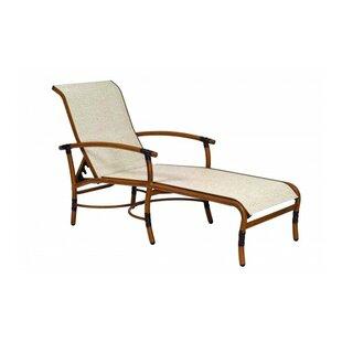 Woodard Glade Isle Sling Reclining Chaise Lounge