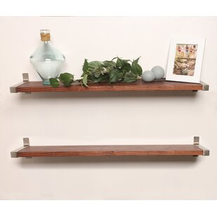 Euan 2 Piece Wall Shelf (Set of 2)