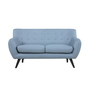 Mid Century Modern Tufted Loveseat