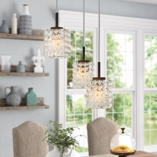 Sadowski 3-Light Drum Cluster Pendant by Wrought Studio