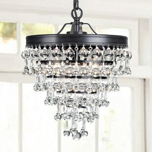 Mclachlan 3-Light Crystal Pendant by House of Hampton