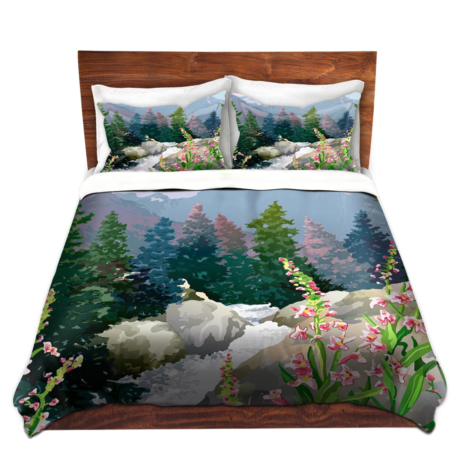 Dianochedesigns Mountain Stream Duvet Cover Set Wayfair