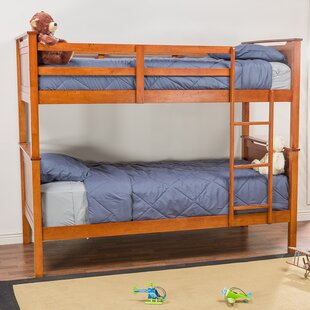 Compare prices Perkinson Twin Over Twin Bunk Bed by Harriet Bee Reviews (2019) & Buyer's Guide