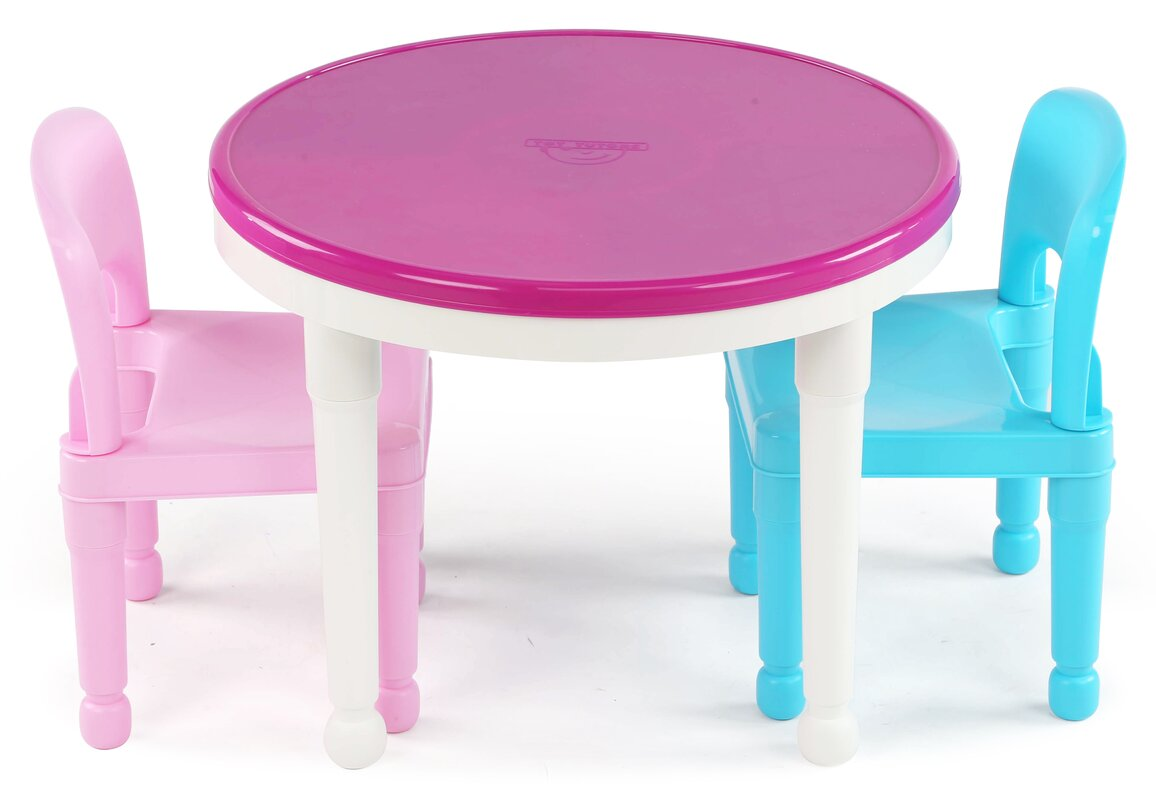 Tot Tutors Kids 3 Piece Round Table and Chair Set & Reviews