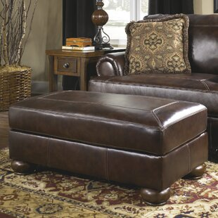 Darby Home Co Bannister Leather Ottoman
