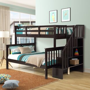Maddox Twin over Full Bunk Bed with Shelf by Harriet Bee