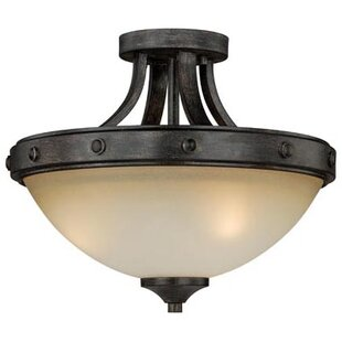 Leonie 2-Light Semi Flush Mount by Laurel Foundry Modern Farmhouse