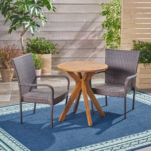 Julius Outdoor 3 Piece Bistro Set by Bung..