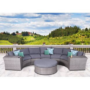 Campa Olefin Round 8 Piece Conversation Set with Cushions