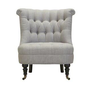 Nannette Slipper Chair Canora Grey