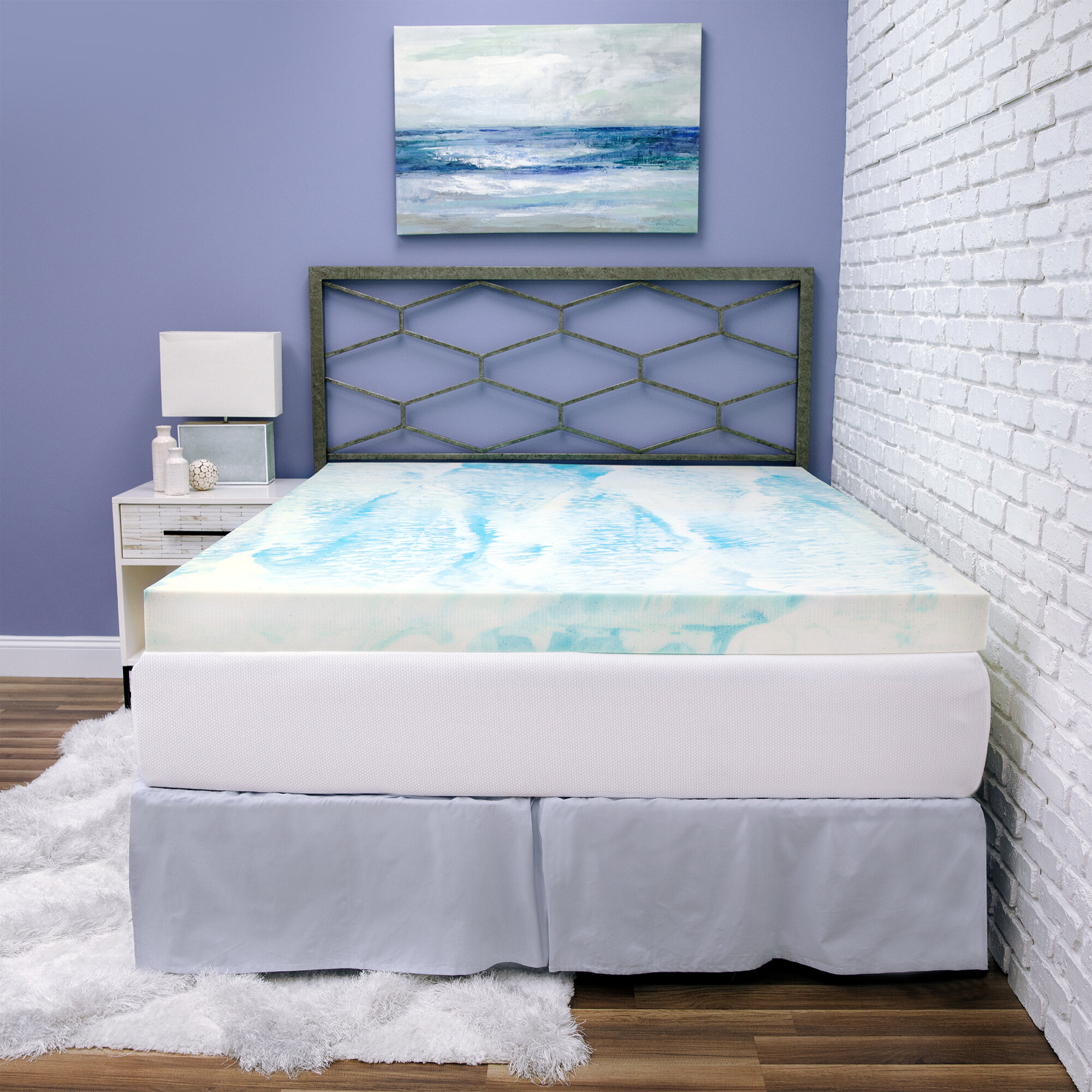 Biopedic Gel Swirl 4 Memory Foam Mattress Topper Reviews Wayfair