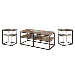 Laurel Foundry Modern Farmhouse Forteau 3 Piece Coffee Table Set