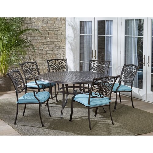 Canora Grey Robicheaux 7 Piece Dining Set With Cushions Wayfair