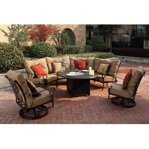 Santa Anita 7 Piece Fire Pit Seating Group With Cushions
