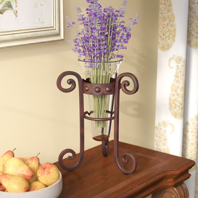 Fleur De Lis Living Rusticclear Floor Vase Wayfair