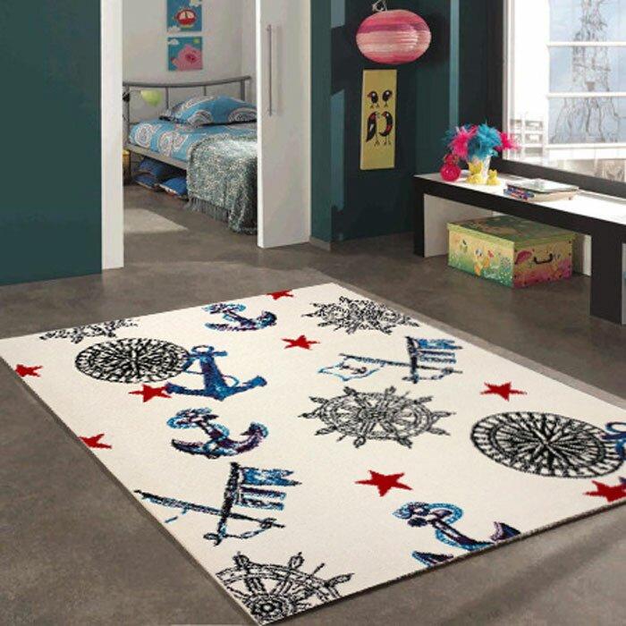 Zoomie Kids Jamison Bedroom Decor Black Blue Rug Reviews Wayfair