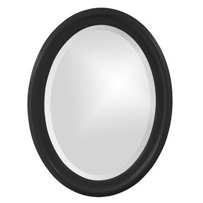 House of Hampton Houstonia Wall Mirror Finish: Black