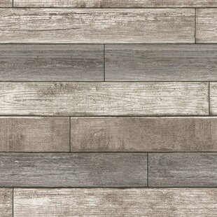 Nu 18 X 20 5 Reclaimed Wood Plank Natural Wallpaper Roll
