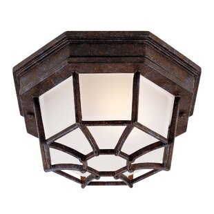 Online Reviews 1-Light Outdoor Flush Mount By Wildon Home ®