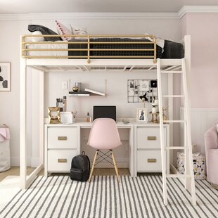 Monarch Hill Haven Metal Twin Loft Bed by