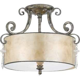 Fleur De Lis Living Sheila Large Semi Flush Mount