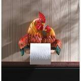 Colorful Proud Rooster Toilet Paper Holder Country Decor