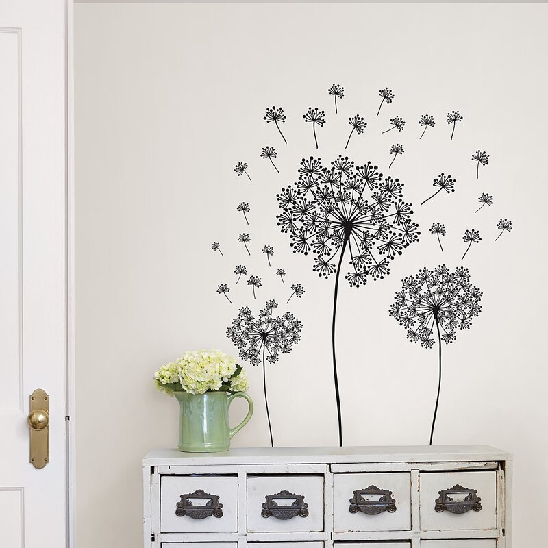 wallpops! wall art kit dandelion small wall decal & reviews | wayfair