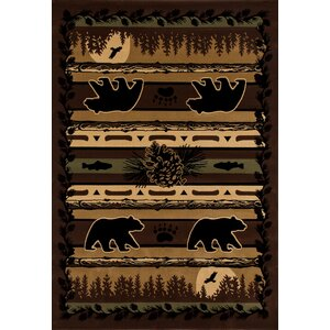 Raritan Grizzly Forest Black Area Rug