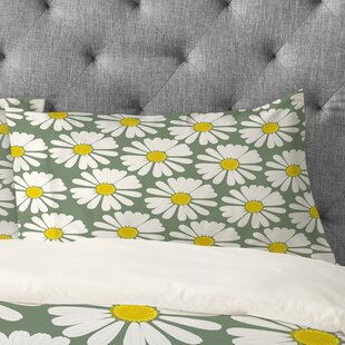 Georgiana Paraschiv Chamomile Pattern Pillowcase