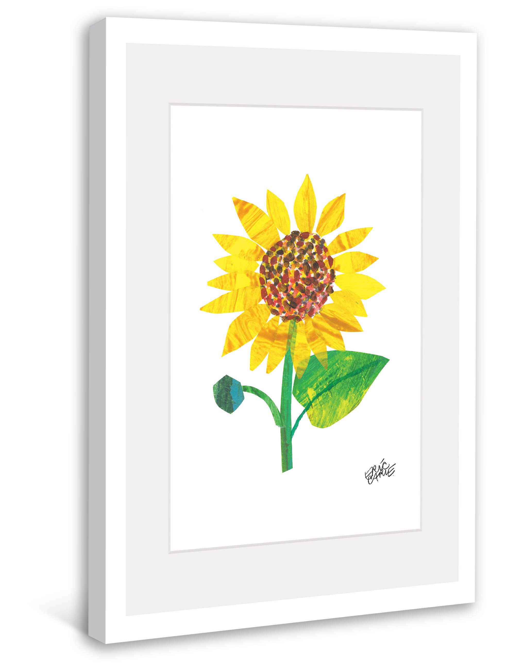 Marmont hill yellow sunflower by eric carle framed painting marmont hill yellow sunflower by eric carle framed painting print reviews wayfair nvjuhfo Choice Image