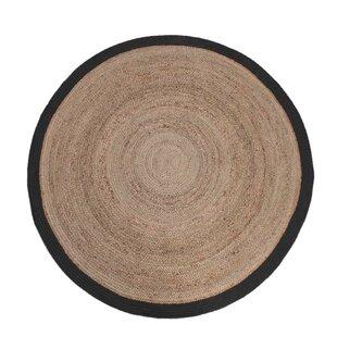 Dalton Cotton Beige/Black Rug by Laurel Foundry