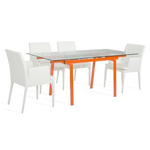 Clower Extendable Metal Base Dining Table