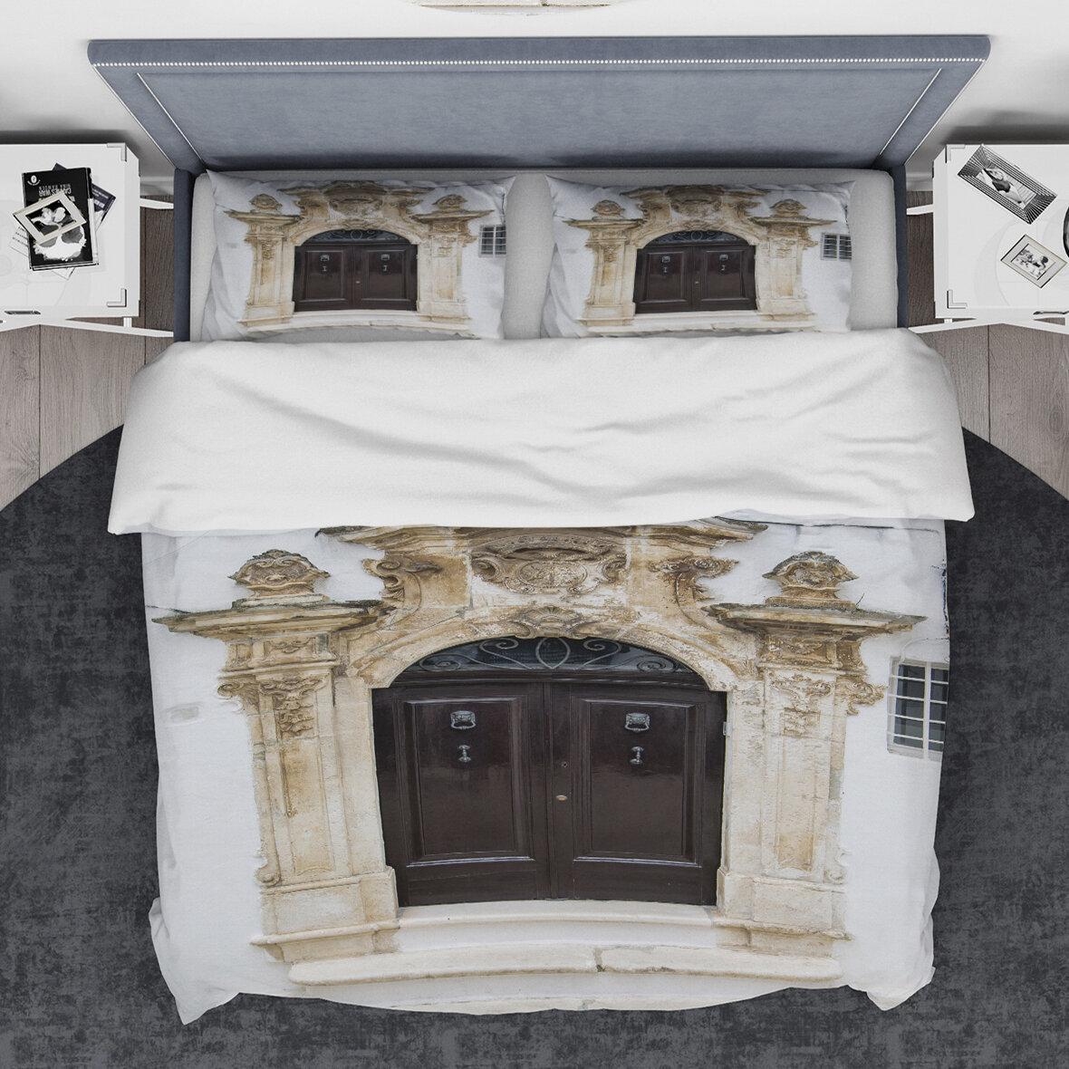 East Urban Home Designart Old Door Bari Italy Duvet Cover Set Wayfair