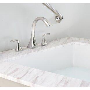 Eva Double Handle Deck Mount Roman Tub Faucet By Moen
