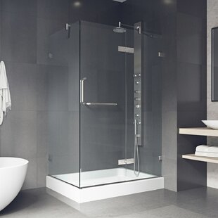 Savings Shower 48.125 x 73 Rectangle Pivot Shower enclosure with Base Included By VIGO