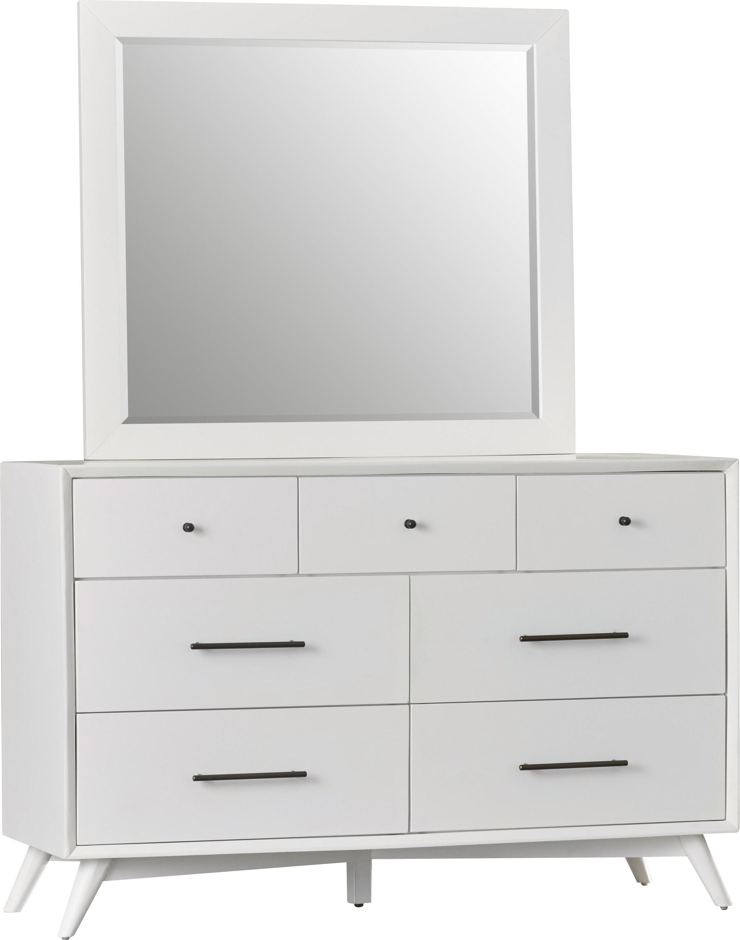 Williams 7 Drawer Double Dresser With Mirror Reviews Allmodern