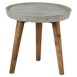 Hartnett Solid Wood And Concrete Side Table By Sol 72 Outdoor