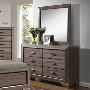Weldy 6 Drawer Double Dresser with Mirror